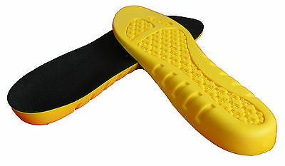 Work Boots, Football, Sports Multi Use Full Length Insoles- Suitable for Waders