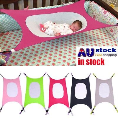 Baby Folding Oxford Cloth Cot Bed Travel Playpen Hammock Holder Crib Portable AU