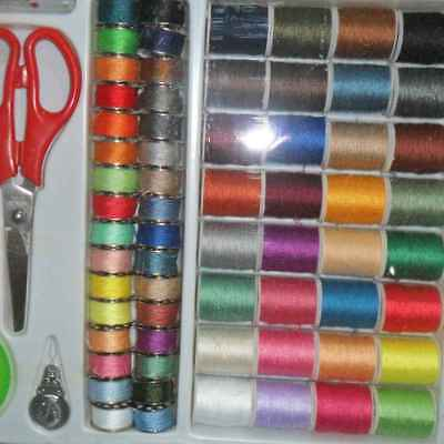 100pcs Roll Polyester Sewing Thread Box Kit Set For Home DIY Sewing Machine