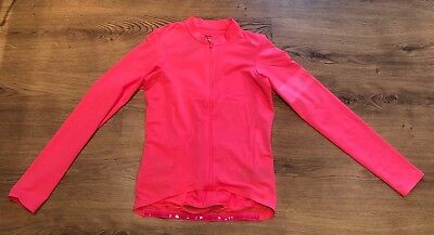 Rapha High Vis Pink Pro Team Long Sleeve Midweight Jersey. Size Small. BNWT.