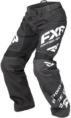 FXR Cold Cross Race Ready 2018 Mens Snow Pants Black/White