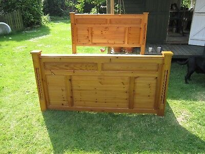 King Size Pine Wooden Bedstead - Hand Made By Master Craftsman