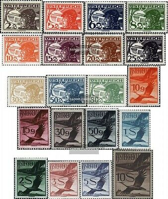 Austria 468-487 with hinge 1925 Airmail-issue