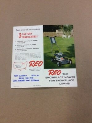 Original Brochure Reo Mowers Lansing Michigan INV-P712