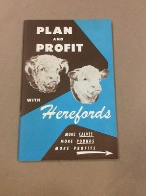 Original Booklet Plan And Profit With Herefords Kansas City Missouri  INV-P448
