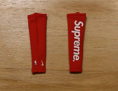 1/6 custom Supreme Nike NBA Shooting Sleeve #red x pair 1/6 figure
