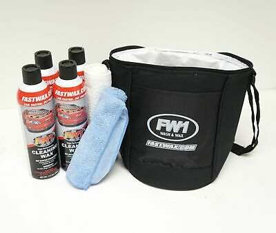 FW1 Fast Wax Wash & Wax 4 Pack w/ Free Microfiber, Terry Towel & Cooler!