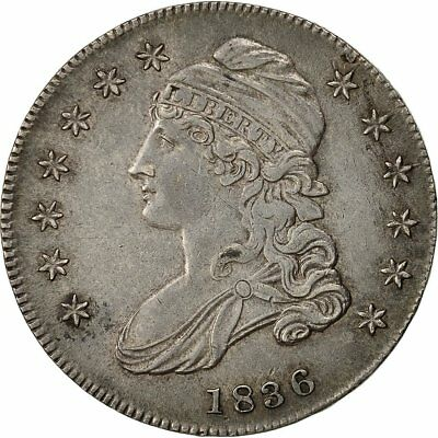 [#482533] Coin, United States, Capped Bust, Half Dollar, 1836, U.S. Mint