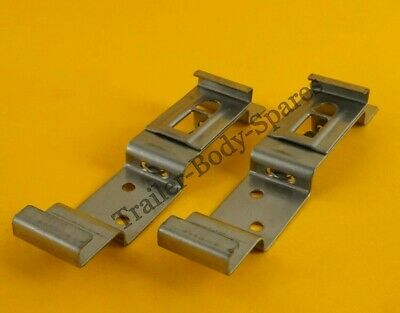 2 x Stainless Steel Quick Release Trailer Number Plate Clips for Ifor Williams