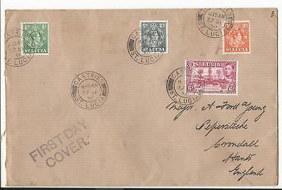 St LUCIA KGVI 1938 FIRST DAY COVER