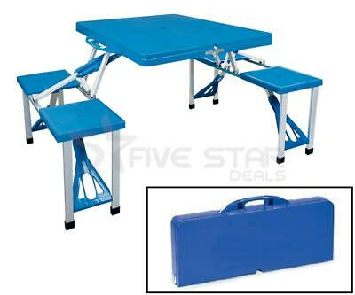 Outdoor Portable Folding Picnic Table Camping Bbq Party Garden Chairs Stools Set