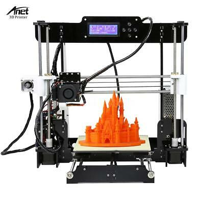 Anet A8 High Accuracy 3D Desktop Printer Prusa i3 DIY Kit LCD Screen US Y9I5