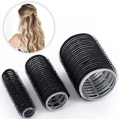 CHOOSE SMALL - LARGE SELF GRIP HAIR ROLLERS Curling Setting Waving Cling Bounce