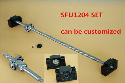 1set 250mm-1500mm SFU1204 End Machine With 1Set BK10/BF10 CNC Ball Screw New