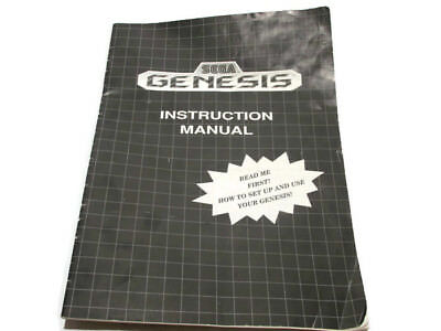 Sega Genesis Original 1992 Instruction Manual How To Set Up And Use Your Genesis