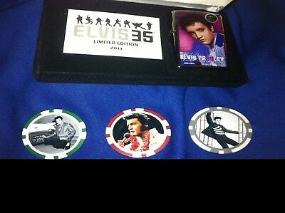 Zippo Elvis 35th Anniversary sealed +3 Elvis Poker Chips