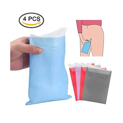 Disposable Urinal Bags,4 Pack Emergency Unisex Urine Bag with Shelter Cover,C...