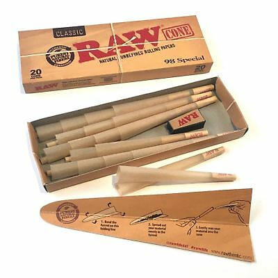 RAW Classic 98 Special Pre Rolled Cones - 4 PACK - Roll Papers 20 Cones Per Pack