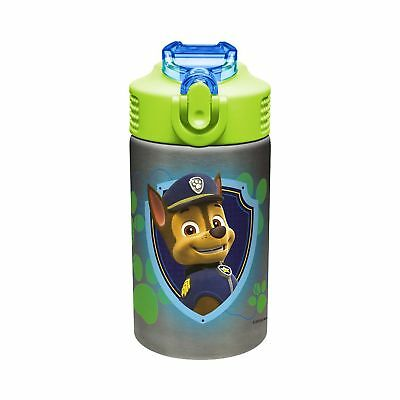 Zak Designs PWPI-S734 Paw Patrol Stainless Steel Reusable Water Bottle, Paw P...