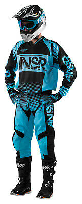 Answer Syncron Blue/Black Jersey & Pant Combo Set Motocross A17.5 Off Road Gear