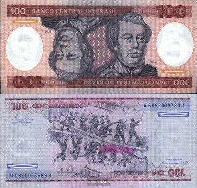 Brazil Pick-number: 198b uncirculated 1984 100 Cruzeiros
