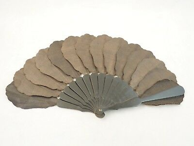 Vintage Mourning Fan Hand Black Gothic Victorian