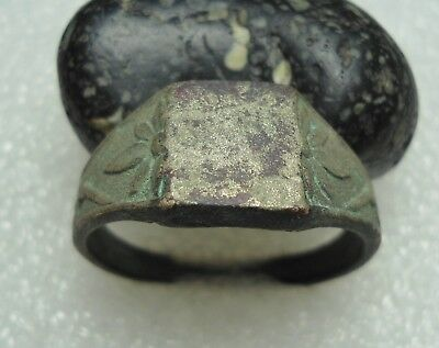 Ancient Roman Bronze Ring Original Authentic Antique Rare R36