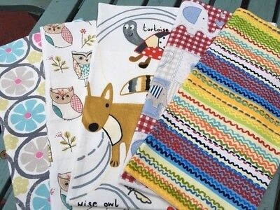 """SALE! 16"""" or 17"""" Square Colourful Covers 100% Cotton Fabric, Various Designs"""