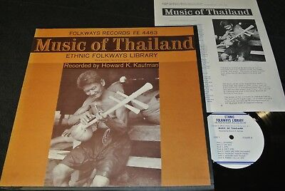 ETHNIC FOLKWAYS LIBRARY Music Of Thailand / US LP 1960 FOLKWAYS RECORDS FE 4463
