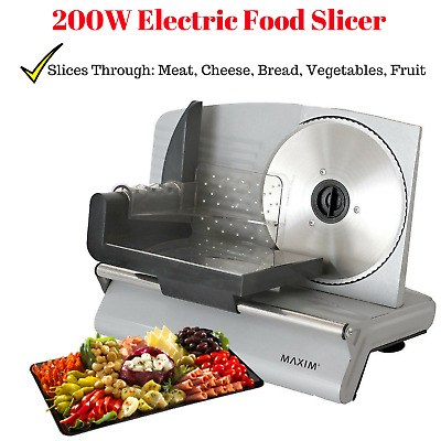 200W Slicing Machine Meat Slicer Cheese Bread Slicer Electric Deli Cafe Home NEW