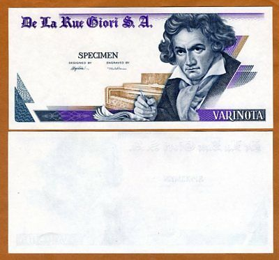 De La Rue GIORI, Test / Advertising note / Specimen Varinota, Type 3 > Beethoven