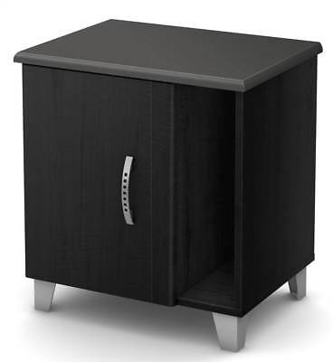Nightstand with Storage in Black [ID 3495212]