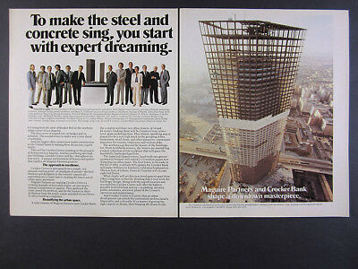 1981 Crocker Center Tower los angeles photo leasing promo vintage print Ad