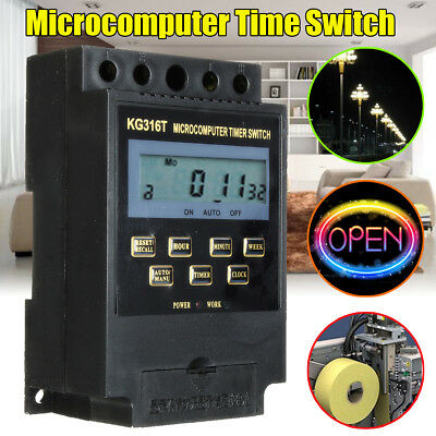 KG316T 220V Programmable LCD Microcomputer Power Supply Timer Switch Controller