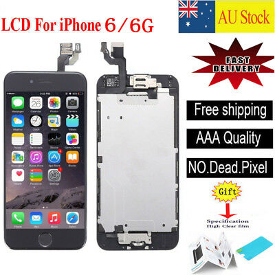 For iPhone 6 4.7'' LCD Screen Touch Digitizer Full Assembly replacement  black