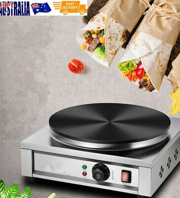 Non-Stick Single Head Electric Crepe Maker Cooking Equipment Cone Commercial 2KW