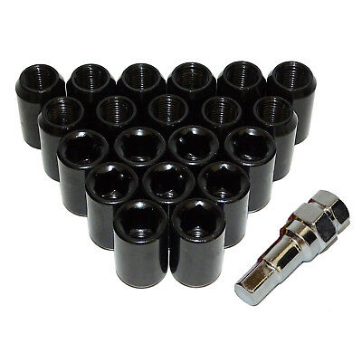 20x 32mm Steel Inner Hex Wheel Rim Lug Nut Open End Hexagon Key M12x1.5 Black US