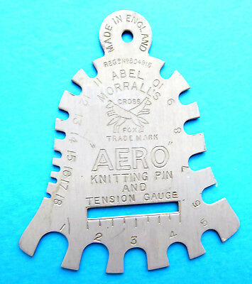 Antique Painted Metal Knitting Needle Bell Gauge,aero  By Abel Morrall