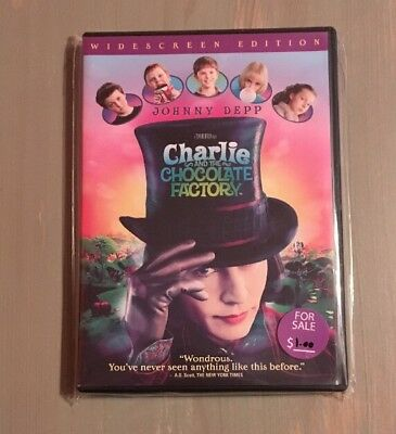 Charlie and The Chocolate Factory Widescreen Edition Johnny Depp used DVD