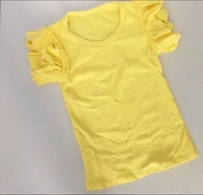 Girls Toddlers Yellow Icing Ruffle Flutter Tee Boutique Outfit