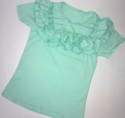 Girls Toddlers Aqua Ruffle Flutter Tee Boutique Outfit