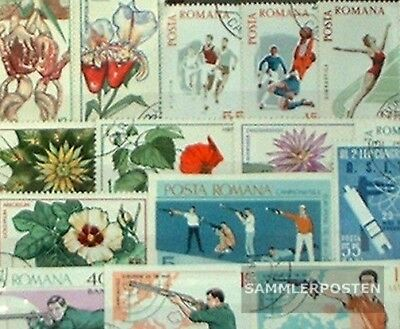 Romania 100 different special stamps  in complete Expenditure