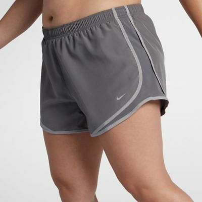 Womens NIKE DRI-FIT Tempo shorts PLUS Size 2x 2xl xxl Track running Gray grey