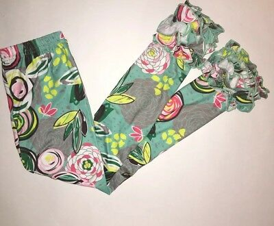 Girls Toddlers Cute Floral Icing Ruffle Leggings Boutique Outfit