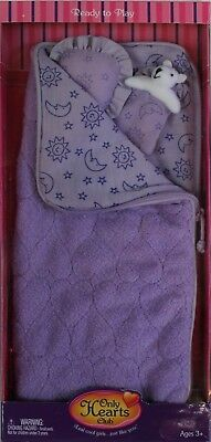 NEW Only Hearts Club Ready to Wear  - Purple Sleeping Bag Outfit & Dog 815