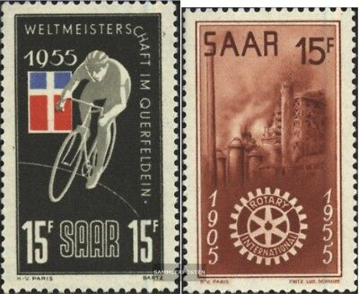 Saar 357,358 (complete issue) unmounted mint / never hinged 1955 special stamps