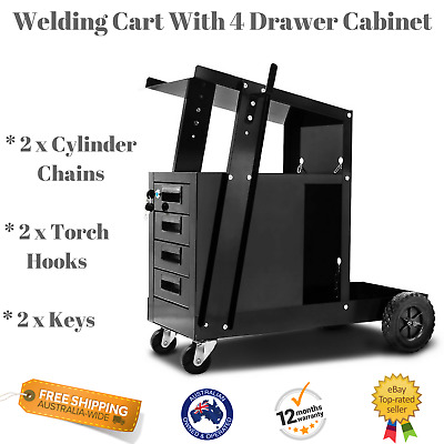 NEW Giantz Welding Cart W/ 4 Drawer Cabinet Welder Trolley Workshop Tools Storag