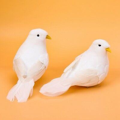 Home Decor Doves Artificial Foam Feather Mini White Birds With Craft
