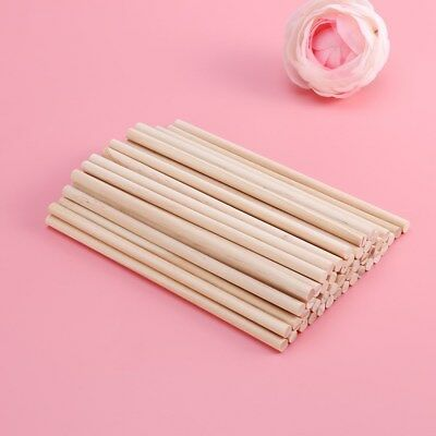 100pcs 30x0.6cm Wooden Pine Rods Premium Wooden Dowel for DIY Crafts Woodworking