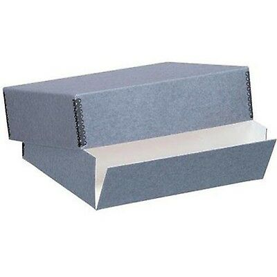 Lineco Museum Archival Drop-Front Storage Box, Acid-Free with Metal Edges, 8.5 X
